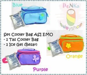 paket cooler bag emo biru+ice gel b